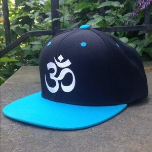 Other - Om Symbol Yoga SnapBack Black with Blue Hat